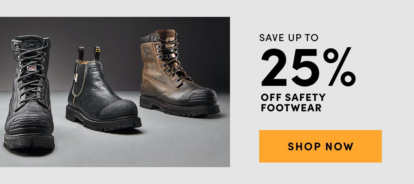 Save Up to 25% Off Safety Footwear. Shop Now