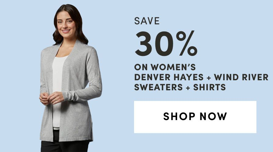 Women's Denver Hayes + Wind River Sweaters + Shirts: Save 30%