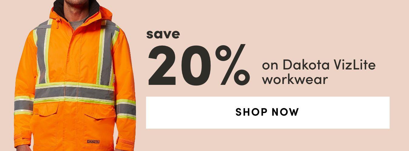Dakota VizLite Workwear: Save 20%