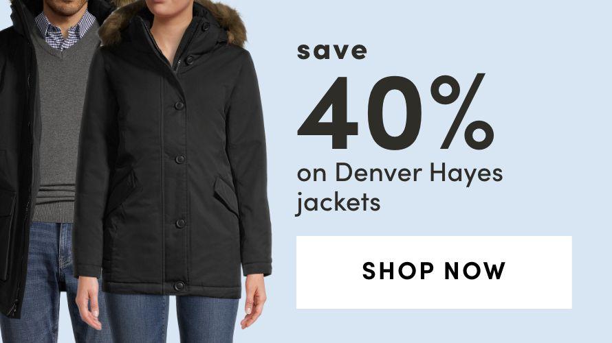 Save 40% on Denver Hayes Jackets