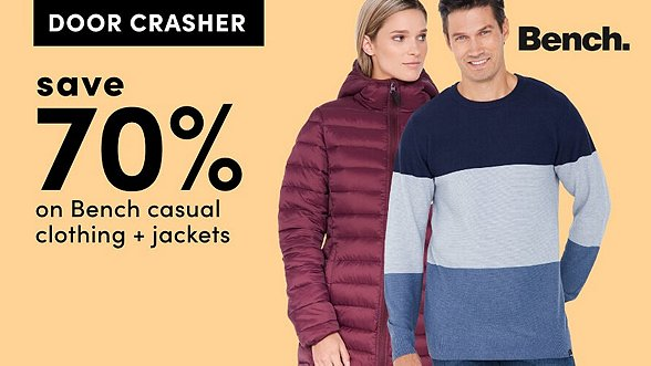 Save 70% on Bench Casual Clothing + Jackets. Shop Now