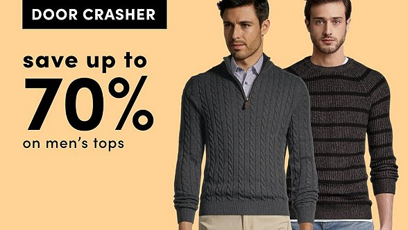 save up to 70% on Men's Tops. Shop Now