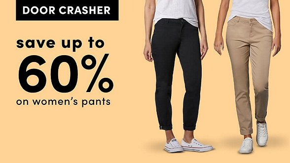 Save up to 60% on Women's Pants. Shop Now