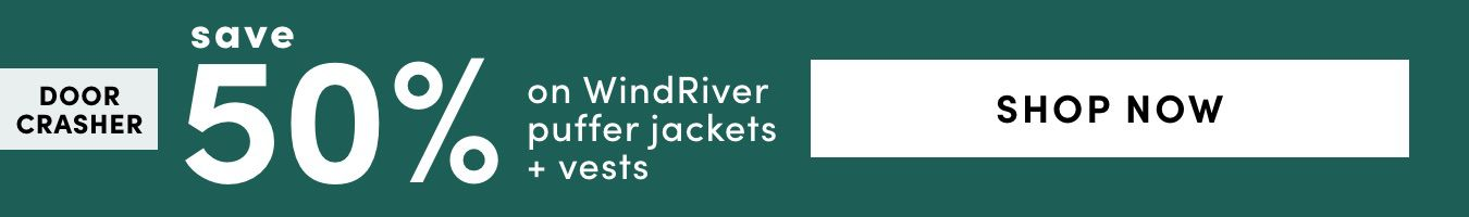 Windriver Puffer Jackets & Vests: Save 50%
