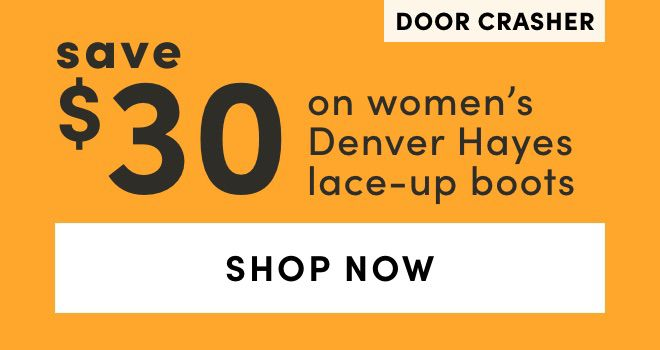 DOOR CRASHER Women's Denver Hayes Lace-Up Boots: Save $30