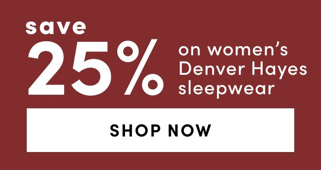 Women's Denver Hayes Sleepwear: Save 25%